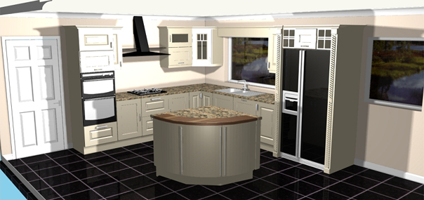 3d Cad Kitchen Drawings Gurteen Kitchens