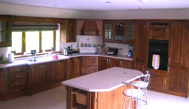Solid walnut for Traditional kitchens ireland